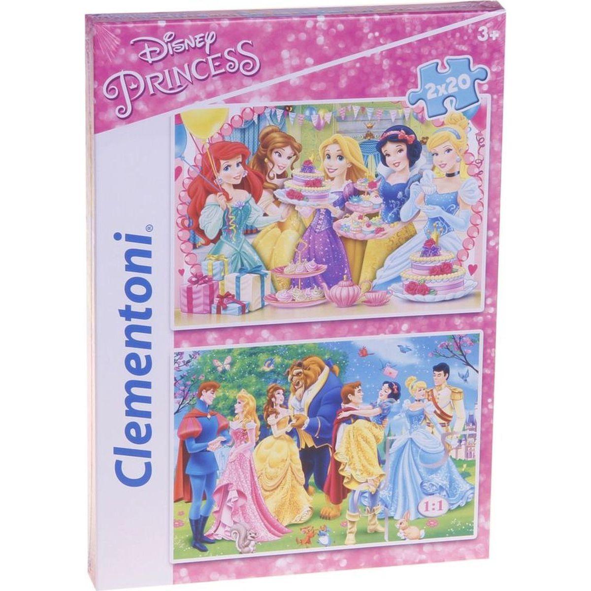Clementoni Disney Princes Supercolor Princezny Puzzle 2x20d
