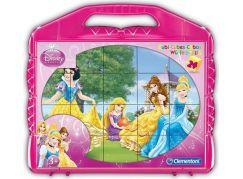 Clementoni Disney Princess Kostky v kufříku 24 kostek