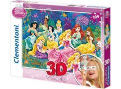 Clementoni Disney Princess Puzzle 3D Vision 104 d