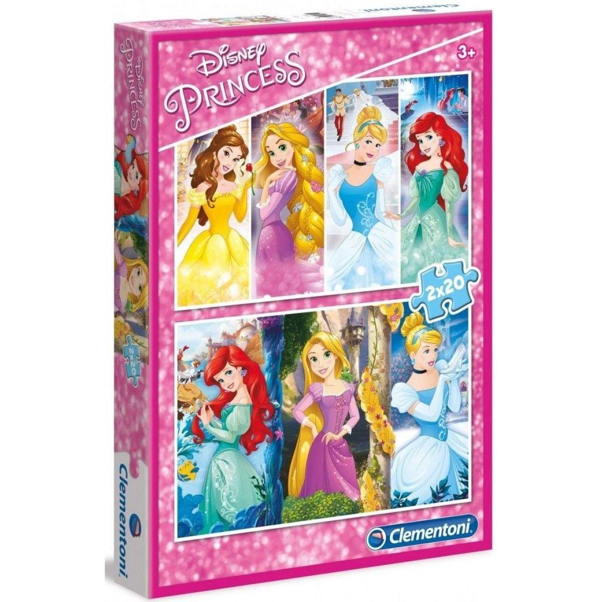 Clementoni Disney Princess Puzzle Princezny 2 x 20 dílků