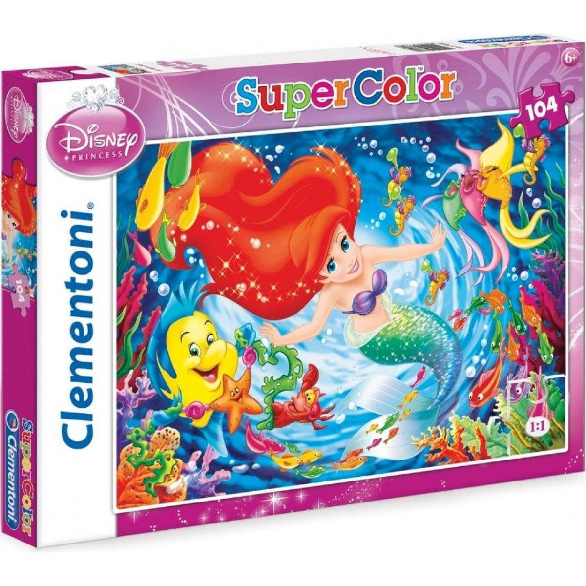 Clementoni Disney Princess Puzzle Supercolor Malá mořská víla 104d
