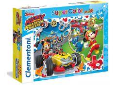 Clementoni Disney Puzzle Maxi Supercolor Mickey závodník 104d