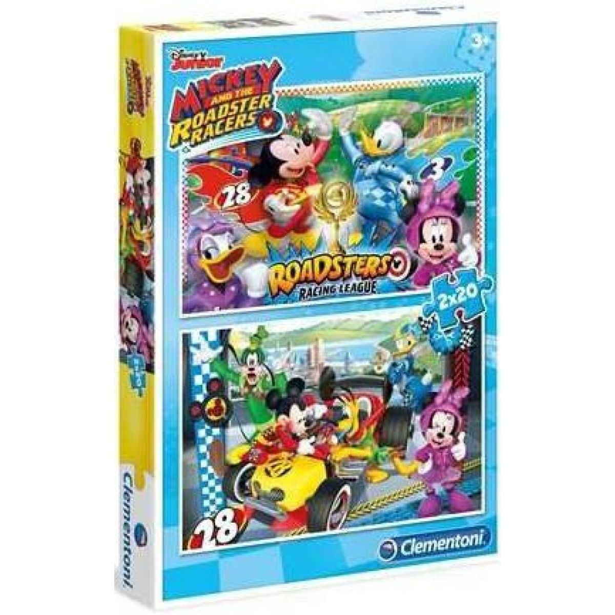 Clementoni Disney Puzzle Mickey závodník 2 x 20 dílků