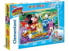 Clementoni Disney Puzzle Mickey závodník Supercolor Floor 40 dílků