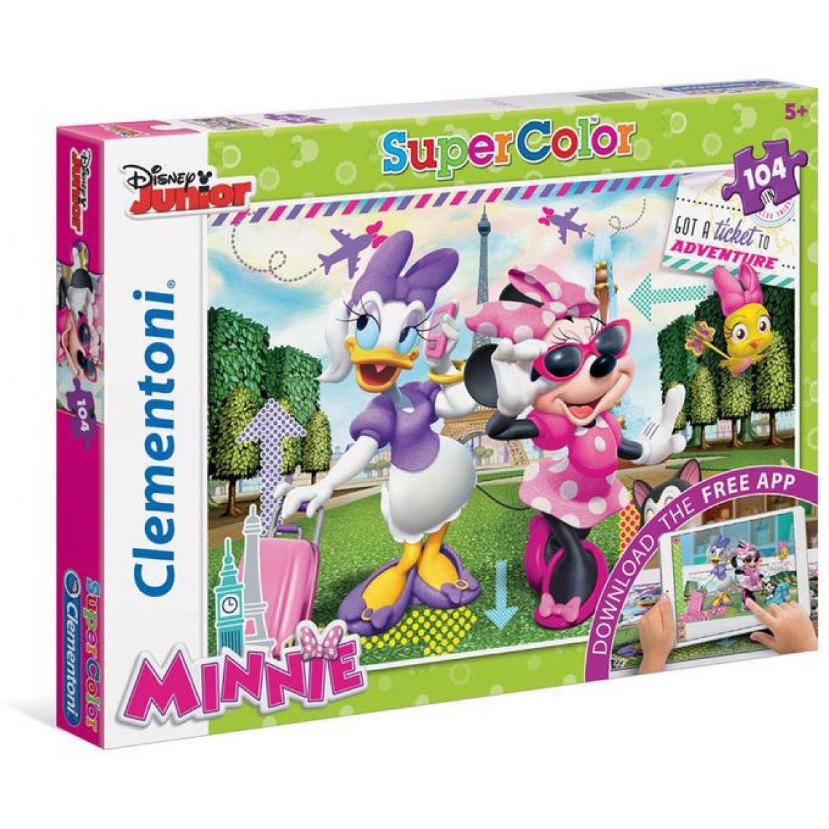 Clementoni Disney Puzzle Minnie App Supercolor 104 dílků