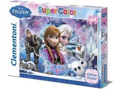 Clementoni Disney Puzzle Supercolor Glitter Frozen 104d