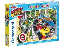 Clementoni Disney Puzzle Supercolor Mickey závodník 60 dílků