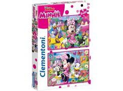 Clementoni Disney Puzzle Supercolor Minnie 2 x 20 dílků