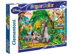 Clementoni Disney Supercolor Kniha Džunglí Puzzle 250d