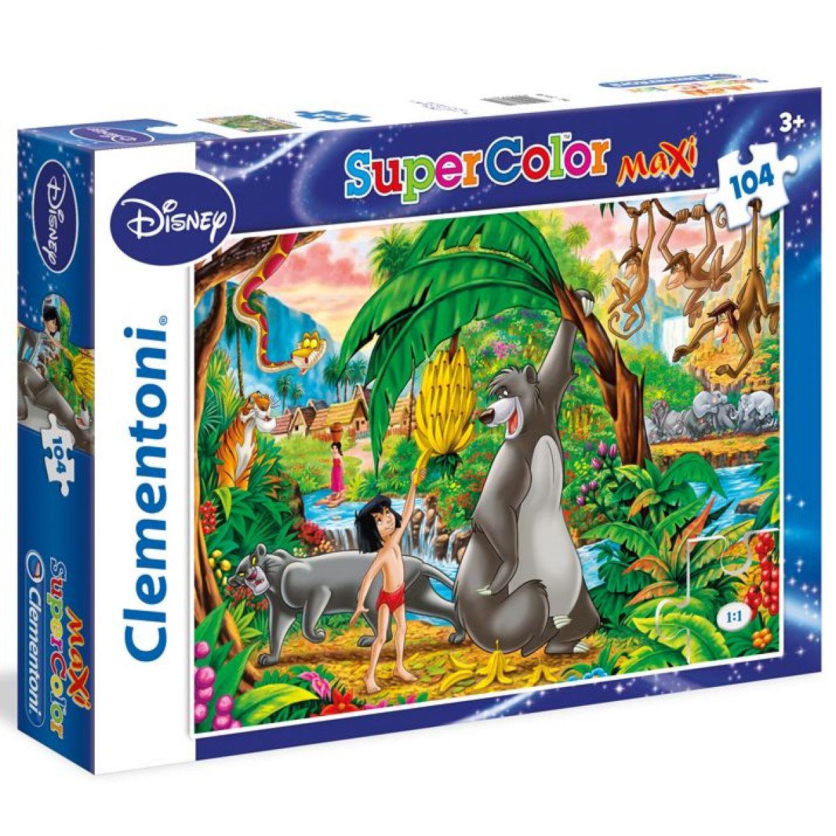 Clementoni Disney Supercolor Kniha Džunglí Puzzle Maxi 104d