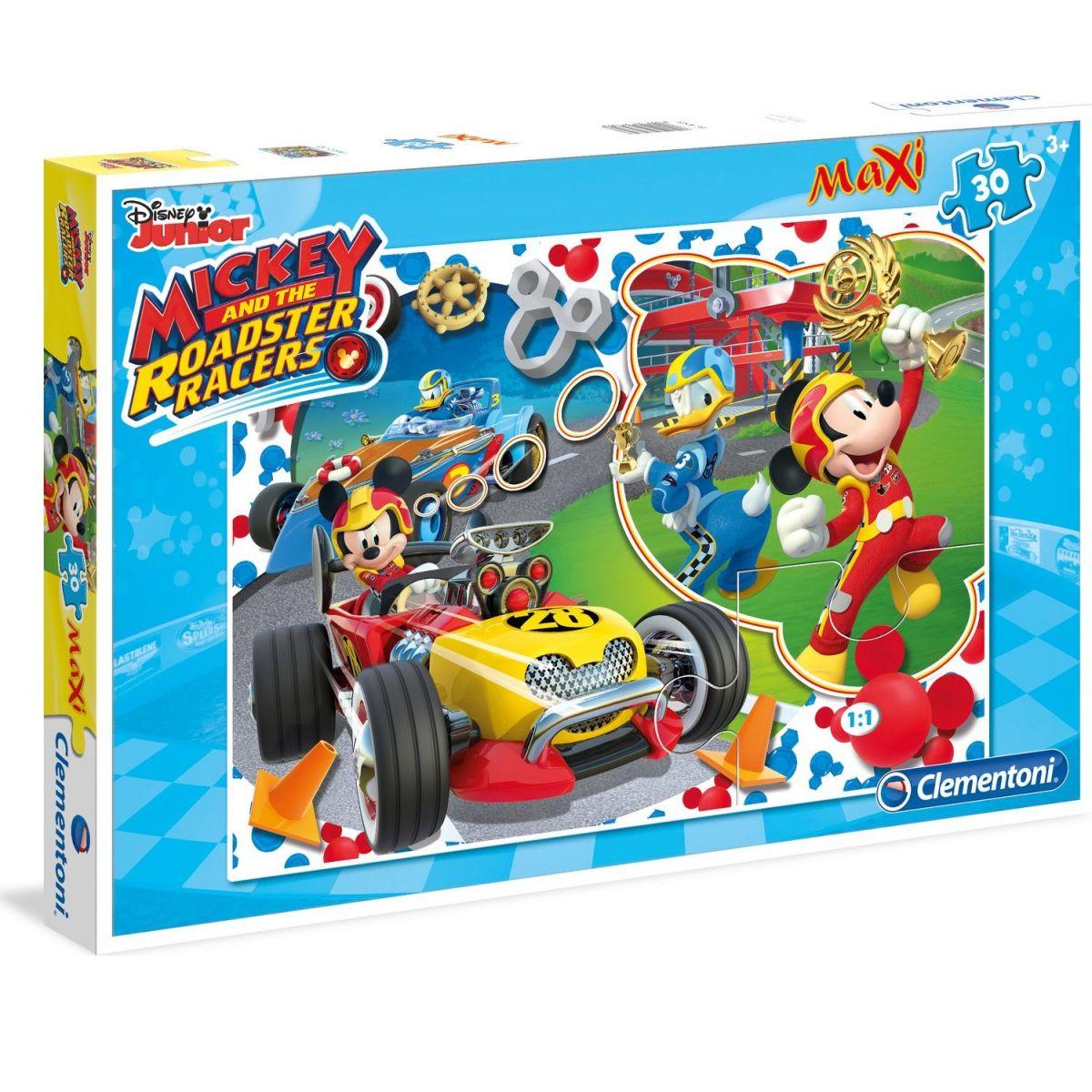 Clementoni Disney Supercolor Maxi Puzzle 30 d Mickey závodník