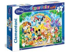 Clementoni Disney Supercolor Maxi Puzzle 60d