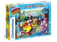 Clementoni Disney Supercolor Maxi Puzzle Mickey závodník 24d