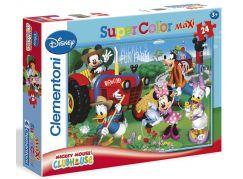 Clementoni Disney Supercolor Mickeys Fun Farm Puzzle Maxi 24d