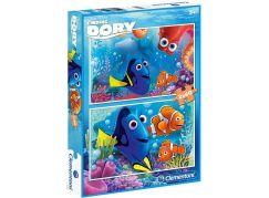Clementoni Hledá se Dory Puzzle 2x60 dílků
