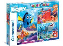 Clementoni Hledá se Dory Puzzle Supercolor 3x48d