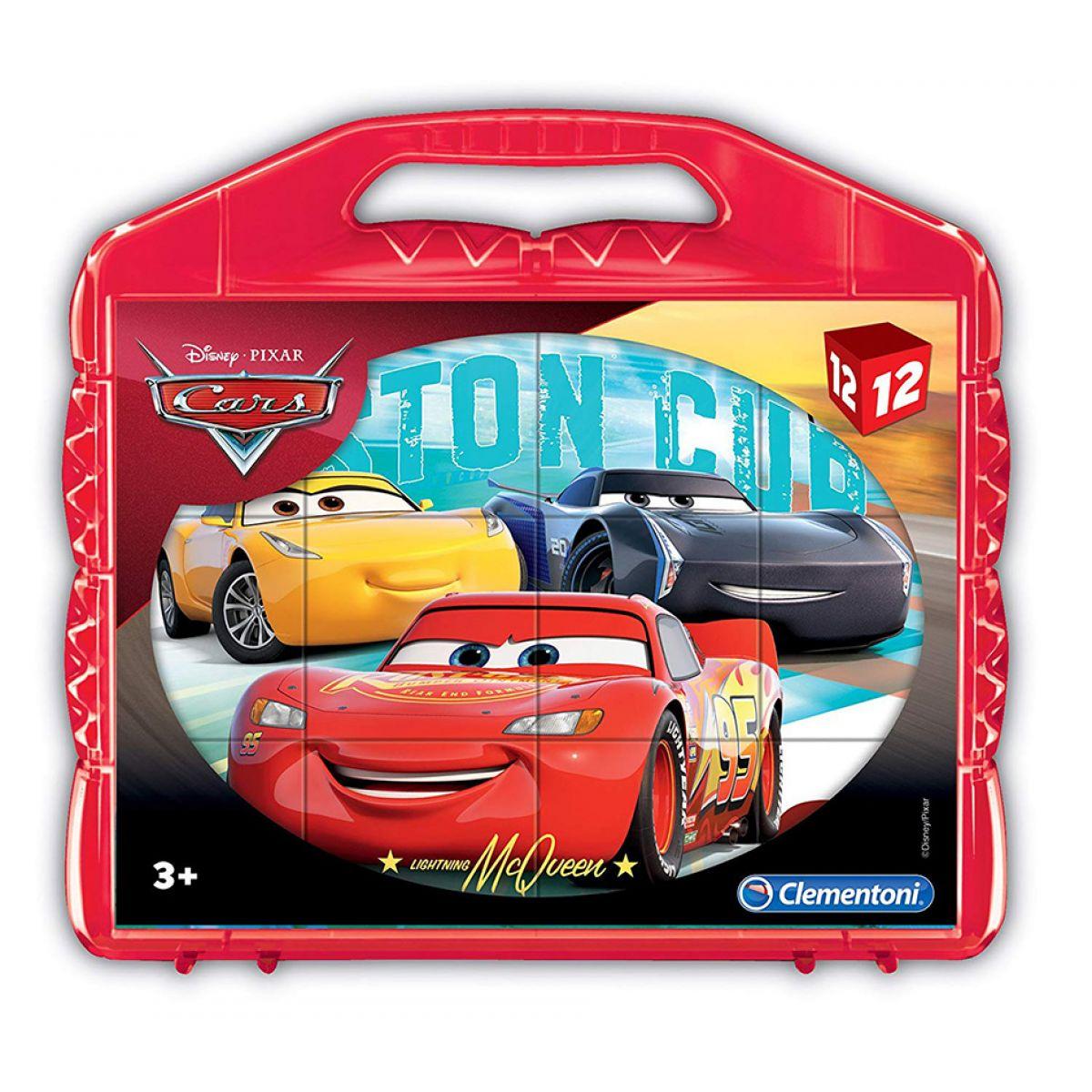 Clementoni Kostky Kufřík 12 kostek Cars