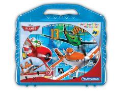 Clementoni Kostky Kufřík (24 kostek) Letadla