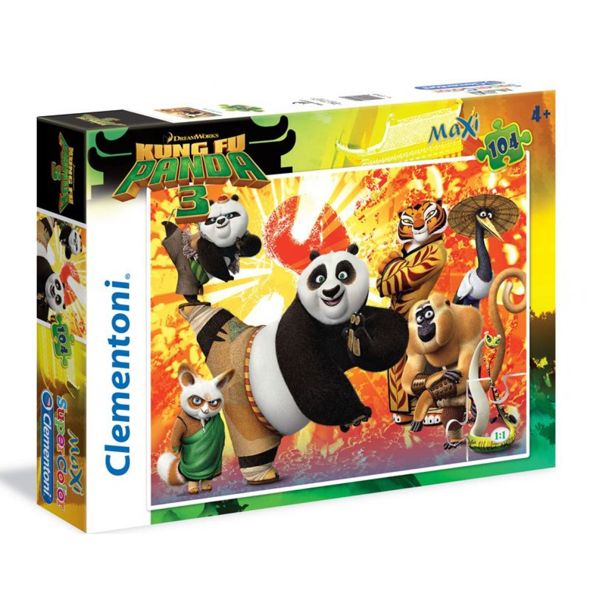 Clementoni Kung Fu Panda 3 Supercolor Maxi Puzzle 104d