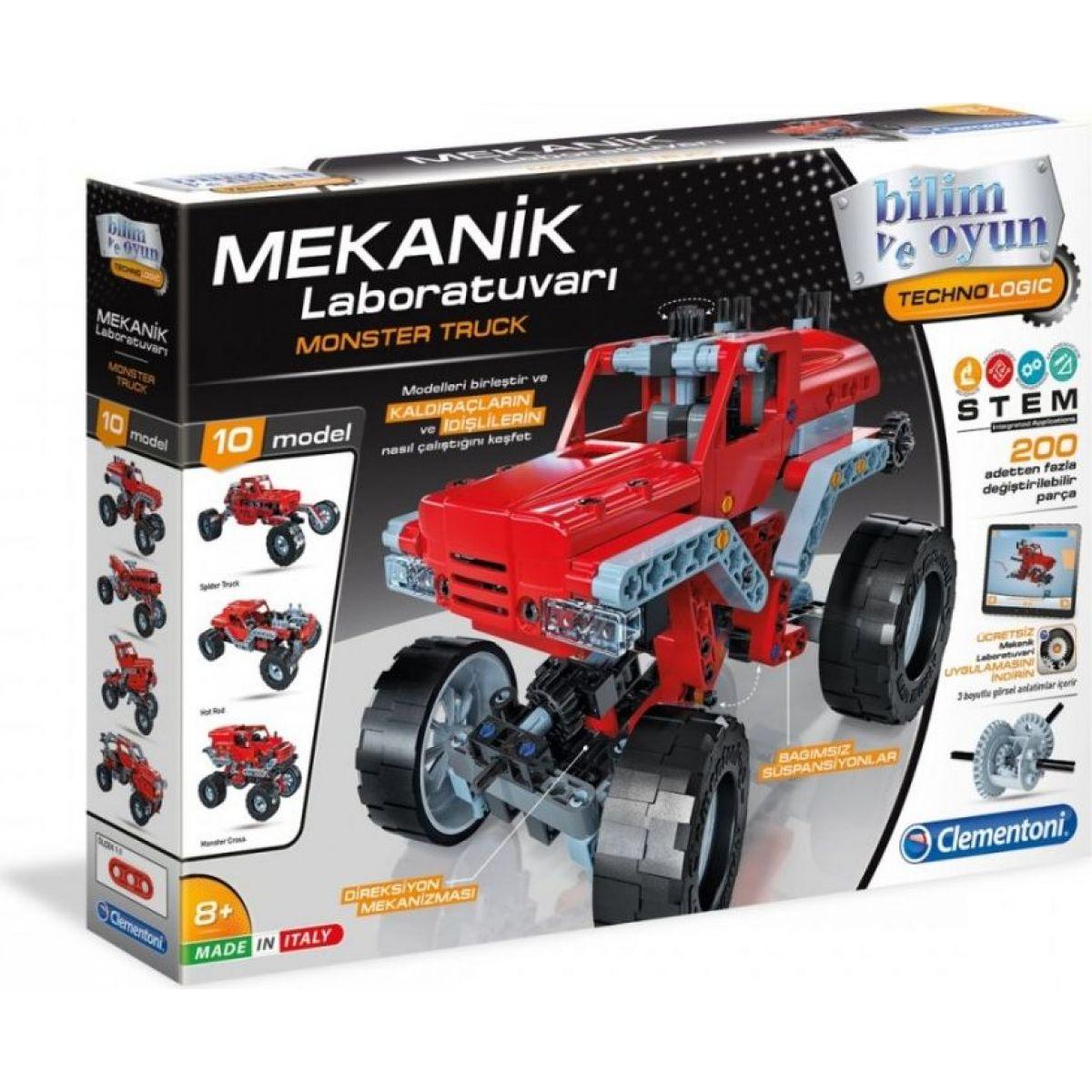 Clementoni Mechanická laboratoř monster truck 200 dílků