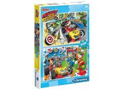 Clementoni Mickey závodník Puzzle 2 x 60 dílků