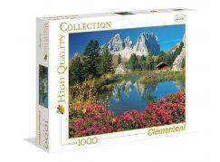 Clementoni Puzzle 1000 dílků, Jezero s chatkou - poškozený obal