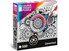 Clementoni Puzzle 3D Colour therapy 500 dílků Mandala