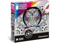 Clementoni Puzzle 3D Colour therapy 500 dílků Sova