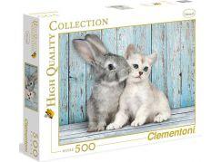 Clementoni Puzzle Kočka a králík 500d