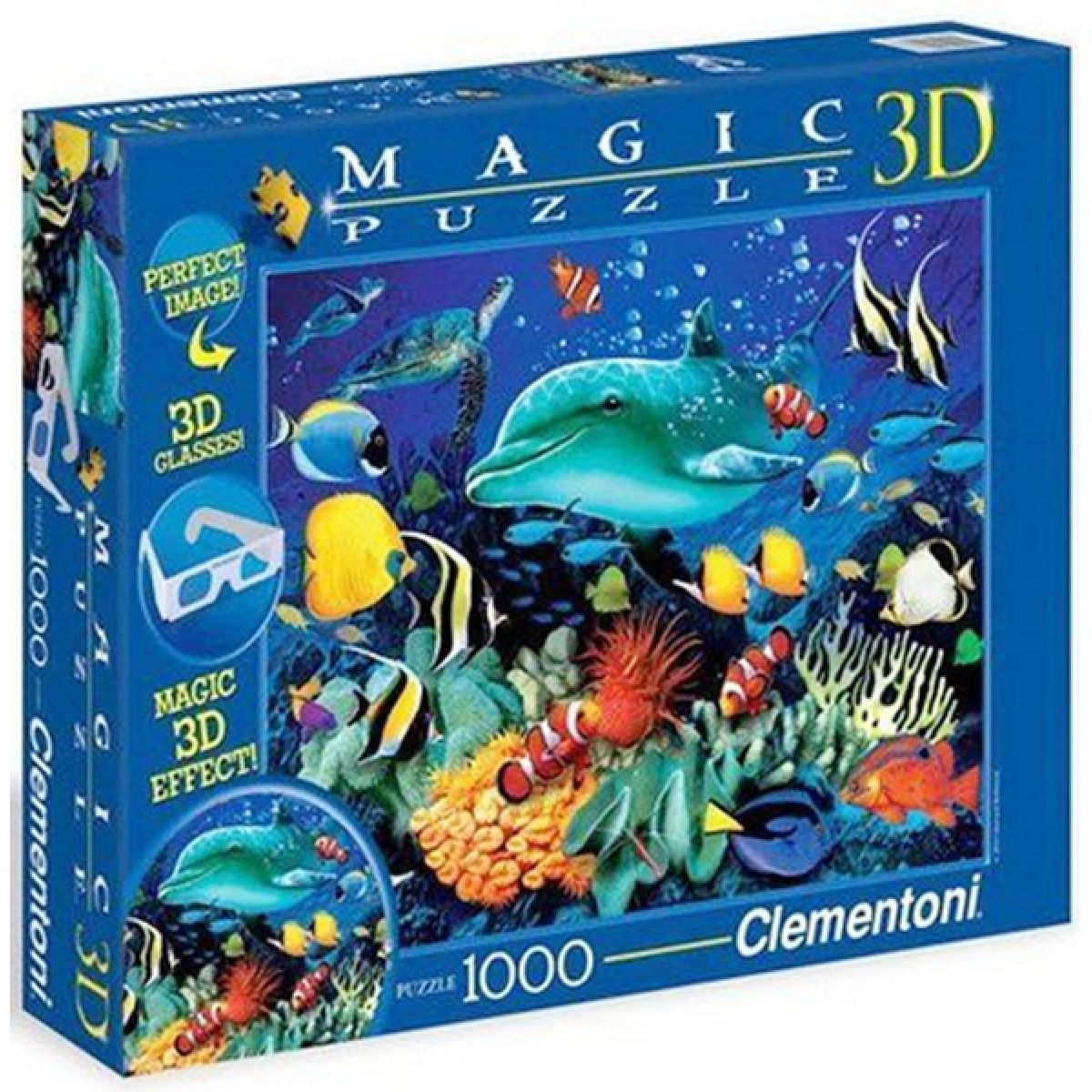 Clementoni Puzzle Magic 3D Delfín 1000d