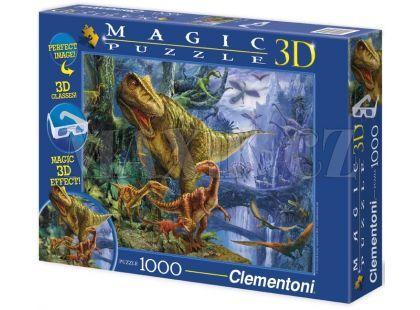 Clementoni Puzzle Magic 3D Dinosauři 1000d