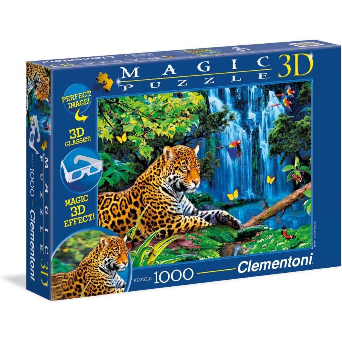 Clementoni Puzzle Magic 3D Jaguar Jungle 1000d