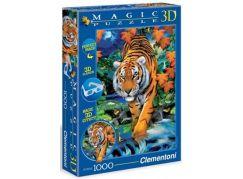 Clementoni Puzzle Magic 3D Tygr 1000d