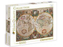 Clementoni Puzzle Mapa 1000d