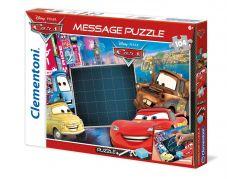 Clementoni Puzzle Message 104 dílků, Auta