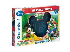 Clementoni Puzzle Message 104 dílků, Mickey Mouse