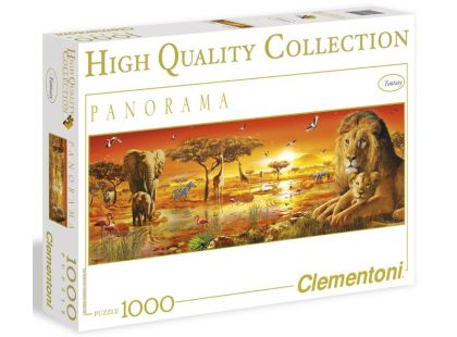 Clementoni Puzzle Panorama Africká savana 1000d