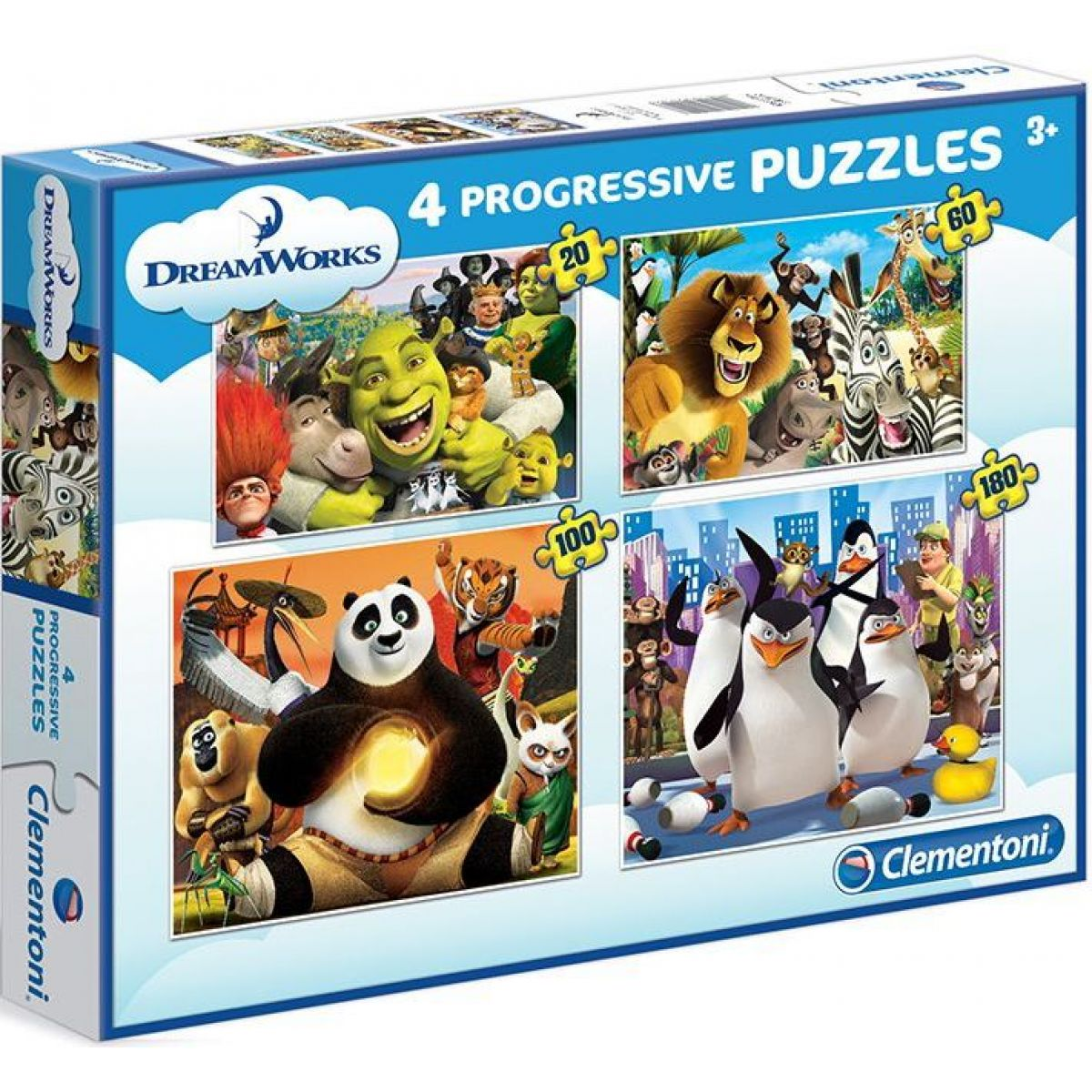 Clementoni Puzzle Progressive 4 v 1 Dreamworks