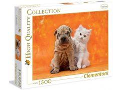 Clementoni Puzzle Štěně a kotě 1500d