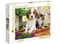 Clementoni Puzzle Štěně s koťátkem 1000d