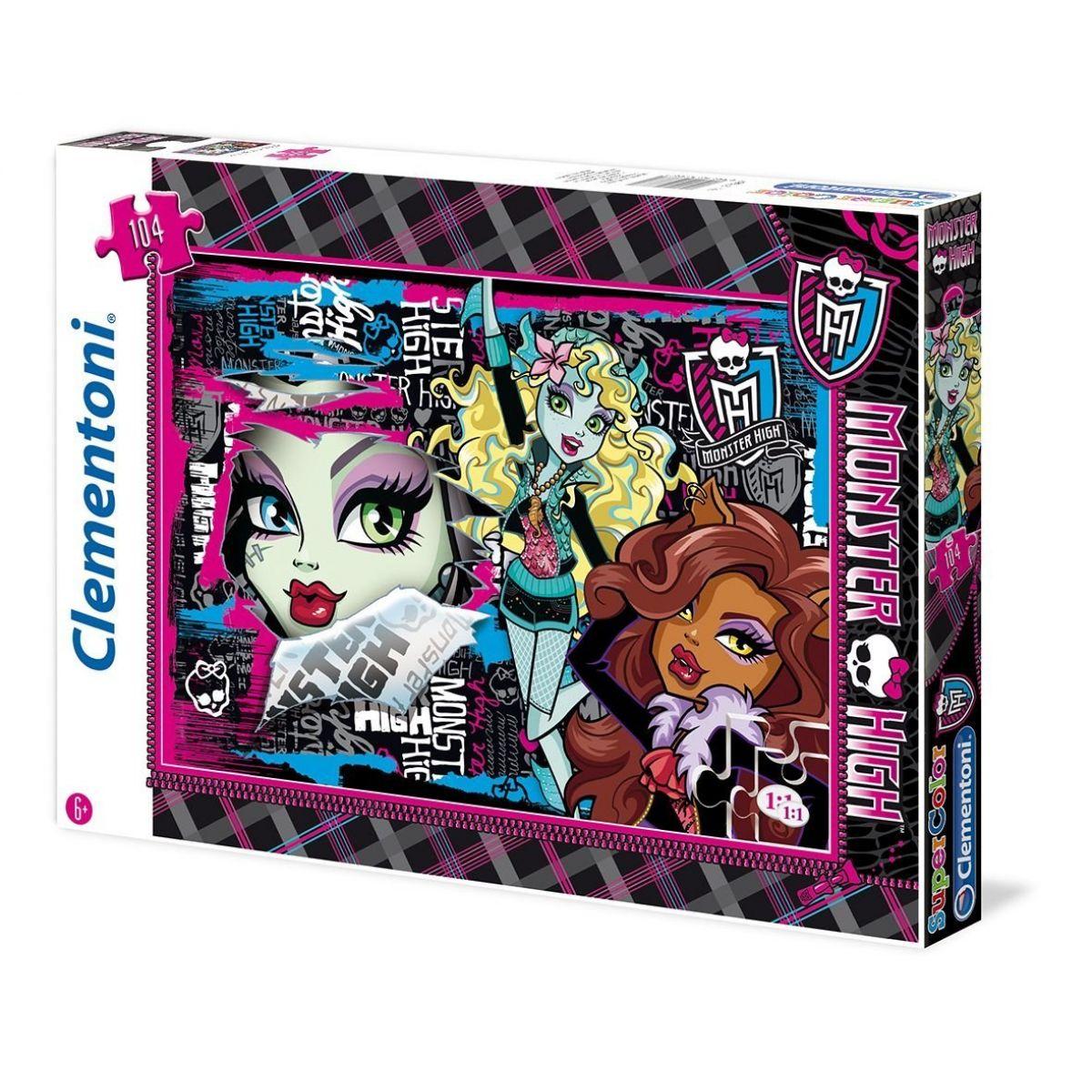 Clementoni Puzzle Supercolor 104 dílků, Monster high