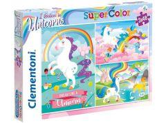 Clementoni Puzzle Supercolor 3 x 48 dílků Jednorožec