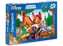 Clementoni Puzzle Supercolor Kamarádi Bambi 104d