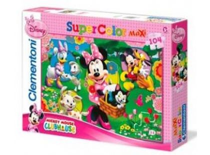 Clementoni Puzzle Supercolor Maxi Minnie 104d