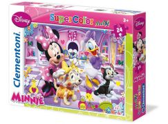 Clementoni Puzzle Supercolor Maxi Minnie 24 dílků - Poškozený obal
