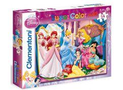 Clementoni Puzzle Supercolor Maxi Princezny 24d