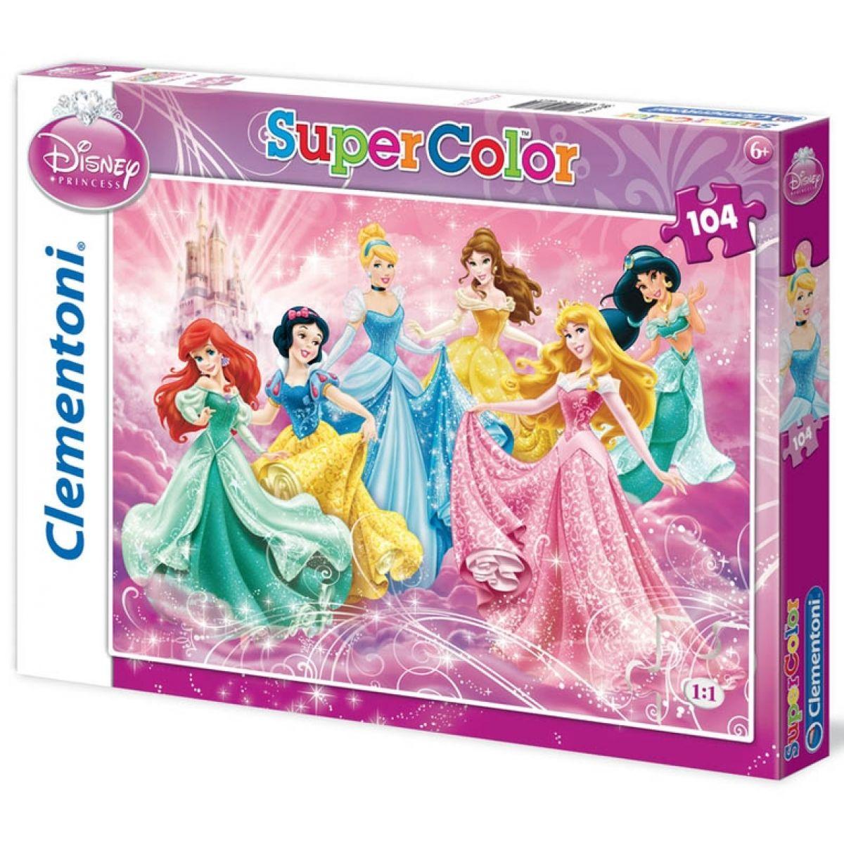 Clementoni Puzzle Supercolor Princezny 104d