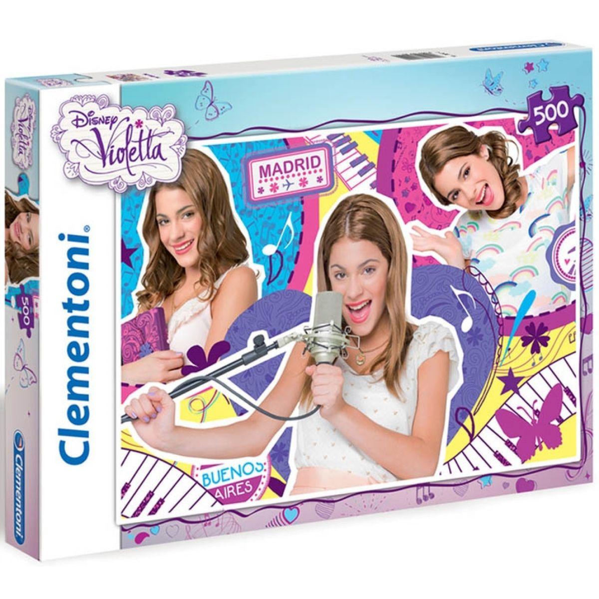 Clementoni Puzzle Supercolor Violetta 500d