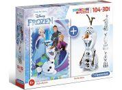 Clementoni Puzzle Supercolors 104 dílků 3D model Frozen