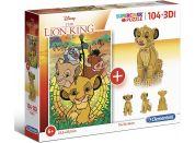 Clementoni Puzzle Supercolors 104 dílků 3D model Lion King